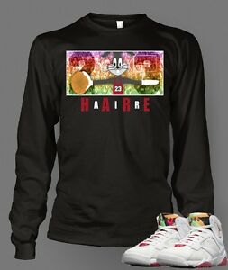 d9cac07fb Custom T-shirt To match Hare Air Retro Jordan 7 Size S-7XL Black ...