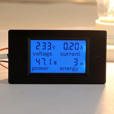 AC 80-260V LCD Digital 20A Volt Watt Power Meter Ammeter Voltmeter 110V 220V