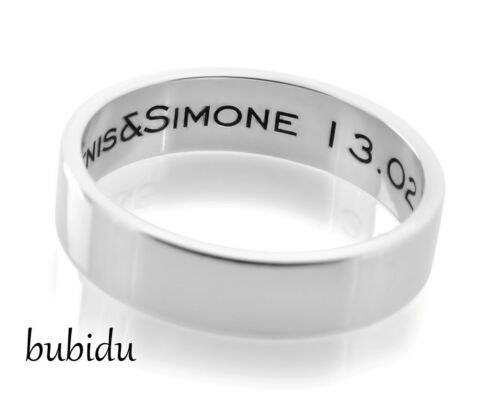 Anillo 925 plata grabado nombres Unisex Hombre Mujer joyas amor joyas regalo