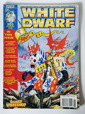 #203 White Dwarf Magazine Games Workshop Cittadella Miniature Vintage 1980/90s- Ultimo Stile