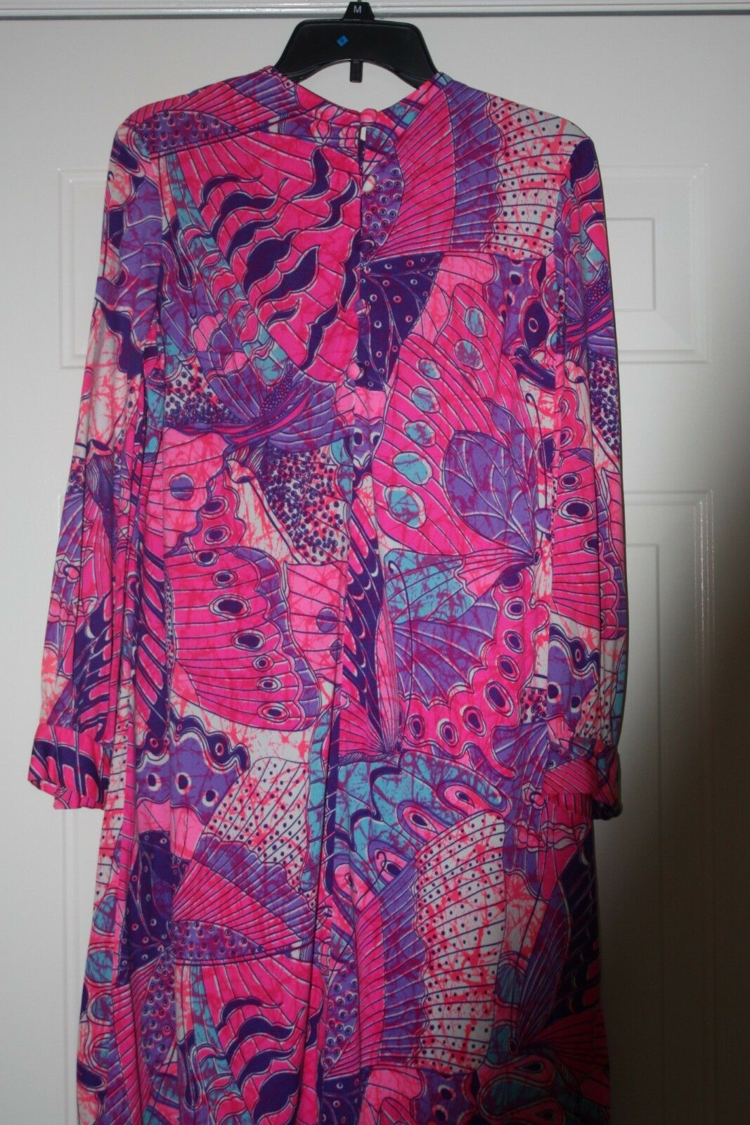 Anika New York Vintage Women's Pink Print Stunning Button Dress S M