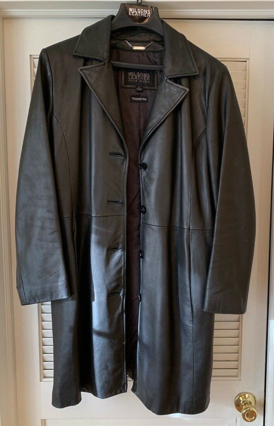 Vintage Wilsons Leather Pelle Studio Trench Coat Women's (Size (Size (Size Large) Thinsulate 00c81e