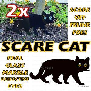 2x Peur Cat Jardin Scarer Stop Antiparasitaires Dissuasif Repousser Débarrasser Scarecrow-afficher Le Titre D'origine