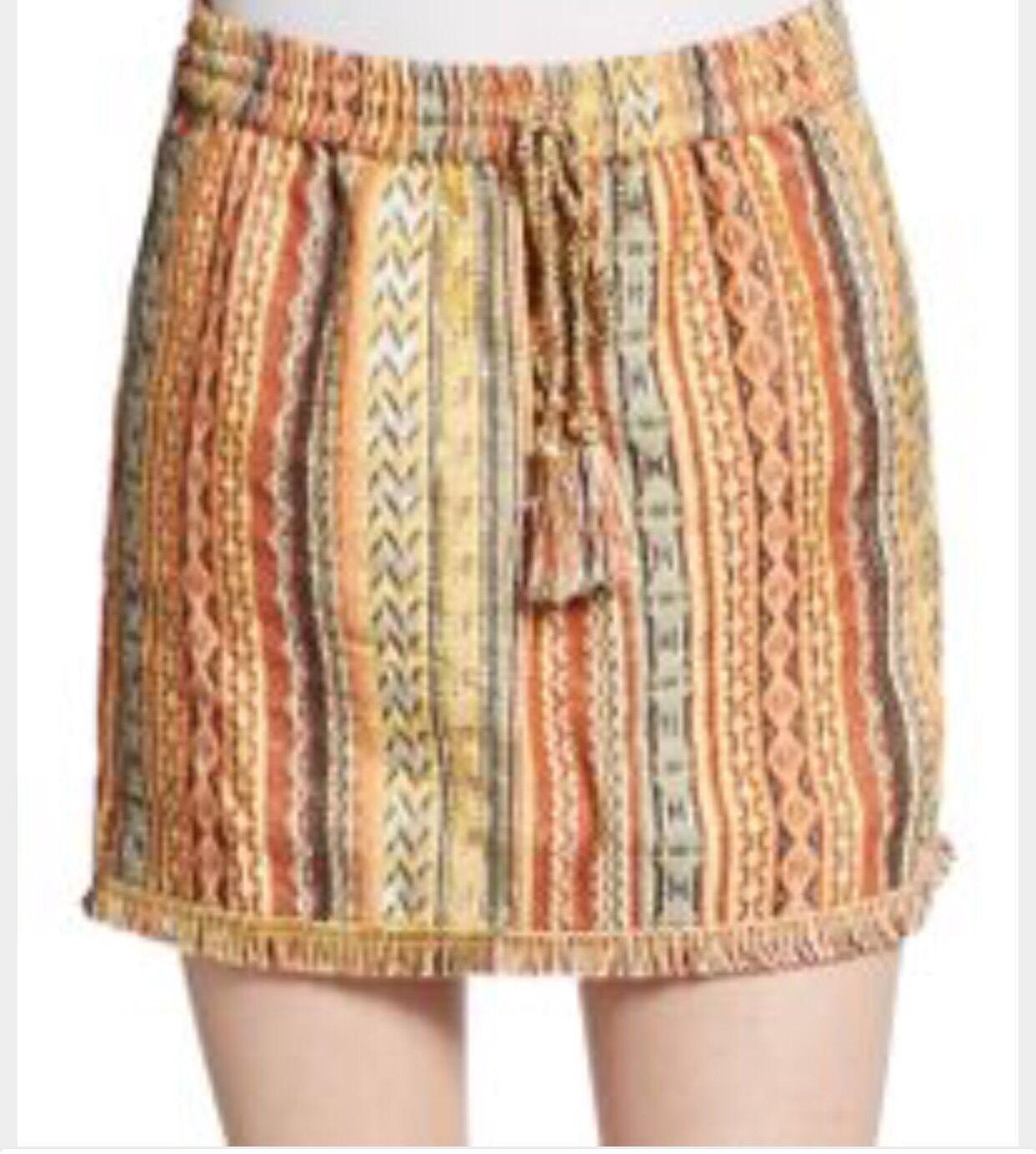 Calypso St. Barth Gideona Embroidered Mini Skirt Xs NWOT