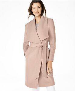 Cole Haan Womens Slick Wool wrap Coat