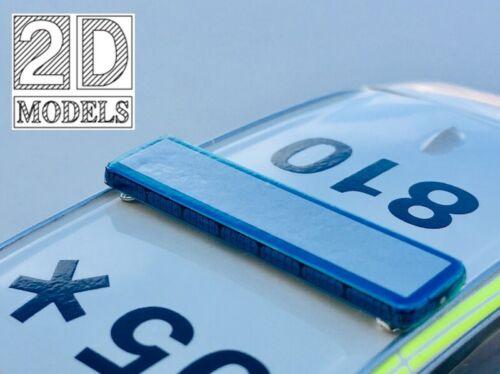 F15 2D Models 1//43 scale Slim Blue LED style lightbar for BMW X5