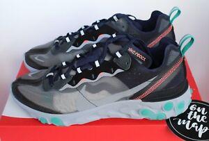 87 Uk 8 12 9 Nuovo Nike 11 Neptune Grigio Navy Verde 13 7 Element 5 React 6 10 Nero 1nw8qHE