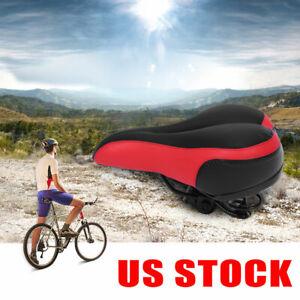 Wide Big Bum Bicycle Bike Seat Extra Comfort Sporty Soft Pad Saddle Seat US