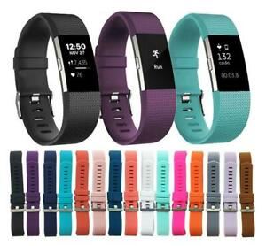 Replacement-Silicone-Band-Strap-Buckle-For-Fitbit-Charge-2-Large-Size
