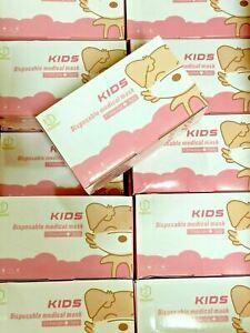 Einweg Mundschutz Kinder 3lagig Maske Schutzmaske 10-50-150 medical kids mask⭐⭐⭐