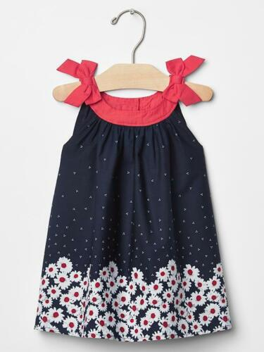 GAP baby fille taille 0-3 mois Americana rouge//blanc//bleu motif floral Daisy Robe
