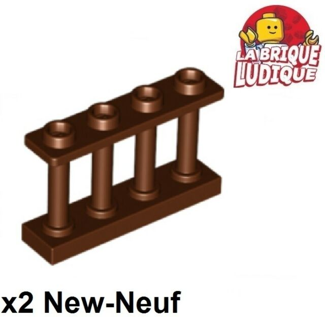 LEGO Lot of 2 Reddish Brown 1x4x2 Spindle Rail Fence Pieces