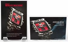 Oakley Minute Machine Time Tank POP Cards Titanium with Red Face Set of 2
