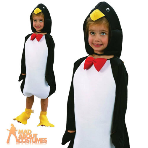 Toddler Penguin Costume Child Boys Girls Book Week Day Fancy Dress Outfit New
