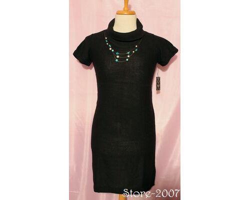 Damen Strickkleid Kleid mit Rolli Longpulli schwarz 38 bis 42 TCM / Tchibo NEU