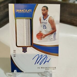 PJ-Washington-Immaculate-Vertical-RPA-99-Rookie-Patch-Auto-Collegiate-RC-P-J