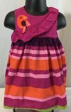 Gymboree Wild For Zebra Girls 6-12 M Parrot Sleeveless Cotton Dress & Bloomers