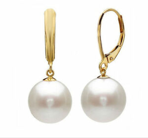 A-pair-of-natural-AAA-10-11MM-Australian-south-sea-white-pearl-earrings-14K-Gold
