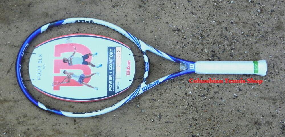 Nuevo Wilson cuatro Blx cuatro 105 basalto raqueta de tenis MP 1 8 1 4 o al 3 8