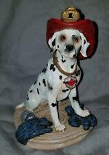 1998 VANMARK Red Hats of  Courage Fireman Figurine Dalmatian Furry Firefighters