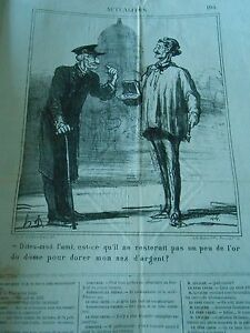 Hd 3799 Daumier 1869 Un Peu De L'or Du Dôme Pour Dorer Mon Nez D'argent R8gomeu0-10104142-712715682