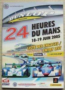 LE-MANS-24-HOUR-ENDURANCE-CAR-RACE-June-2005-Official-ENTRY-List-Booklet