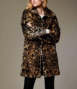 Kleidung & Accessoires Vereinigt New Karen Millen Leopard Print Bnwt £250 Longline Faux Fur Cd036 Coat Uk Size 8 Supplement Die Vitalenergie Und NäHren Yin Jacken, Mäntel & Westen