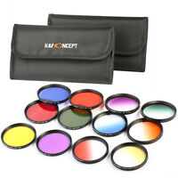 58mm Full Graduated Color Lens Filter Kit For Canon Rebel T5i T4i T3i T2i T1 Xsi