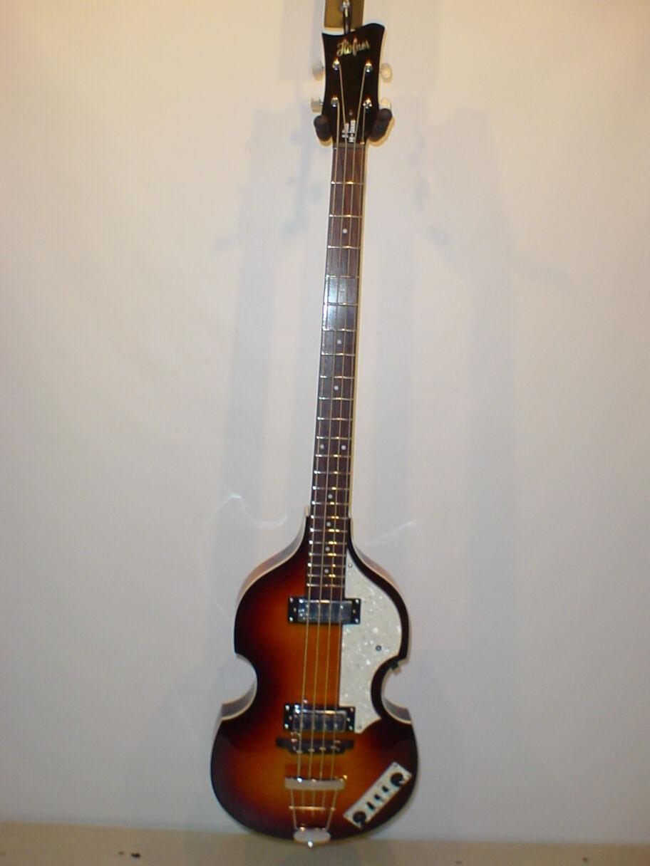 Hofner Hi Series Ignition Violin Bass Guitar with Original Case - SUNBURST
