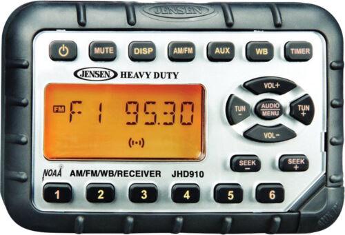 12VDC NOAA Weatherband JENSEN Heavy Duty JHD910 Mini Waterproof AM//FM//WB Radio
