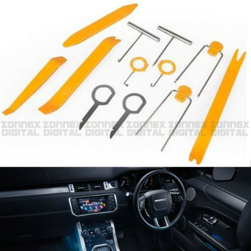 12Pc Plastic Car Stereo Radio Door Trim Dash Panel Install Removal Pry Tools Kit