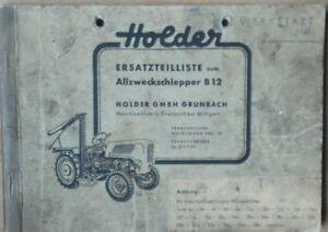 Holder-Allzweckschlepper-B-12-Ersatzteilliste