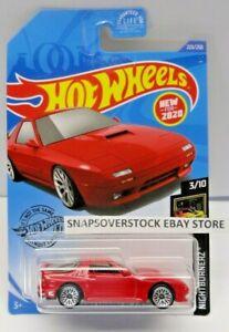 Hot Wheels 2020 Red 89 Mazda Savanna RX-7 #223 Nightburnerz