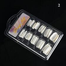 100x Acrylic False Fake Nail Art Fingernail Full Tips Box Manicure Set 3 Colors