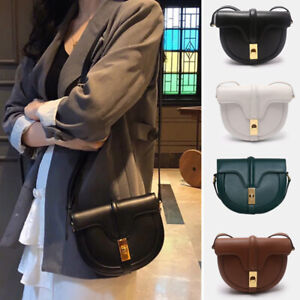 2-Szs-Small-Large-Real-Leather-Shoulder-Bag-Flap-Purse-Saddle-Crossbody-Vintage