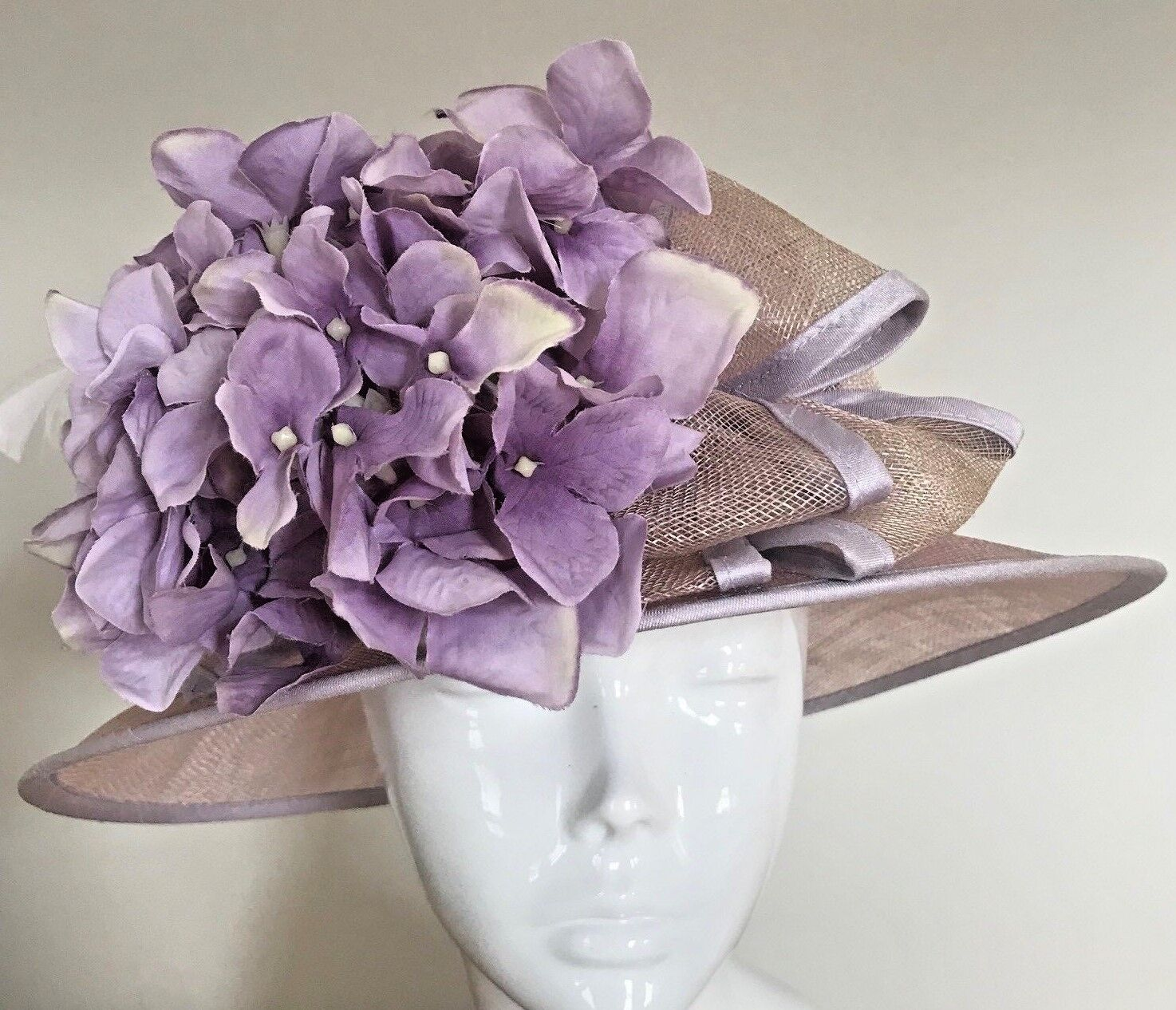 One Off Lilac Designer Millinery by Hat Couture Wedding Bridal Race Hat