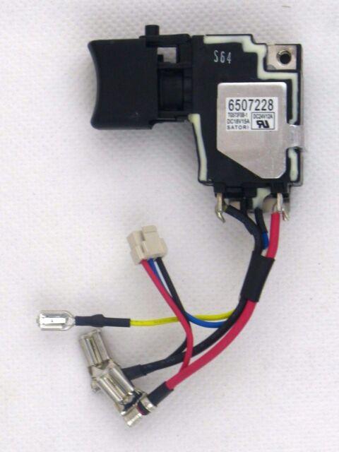 Makita Original 650722-8 Interruptor Para Máquina BTD134 BTD146