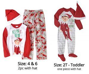 a87d3a975 The Elf on the Shelf Pajamas with Santa Hat Unisex Boys
