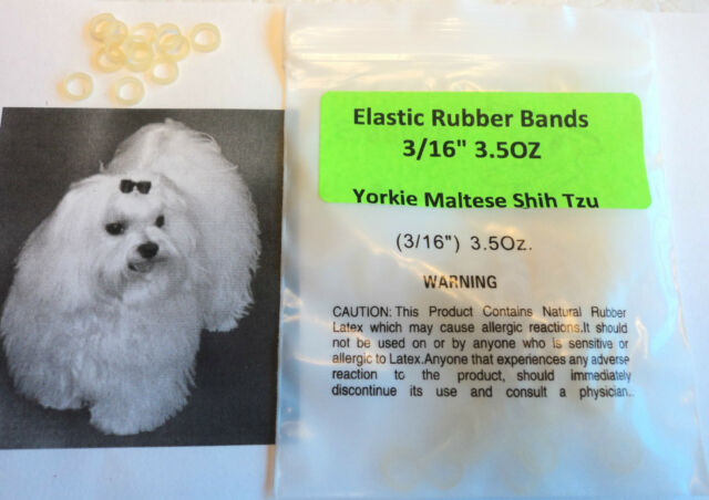 "Pack of 100 Rubber Bands Latex 3/16"" 3.5 OZ for Dog Grooming Hair Bows"