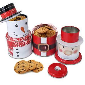 Scatola Latta Biscotti Natale.Barattolo Biscotti Latta Biscotti Di Natale Babbo Natale In Metallo A Secco Cibo Cucina Caffe Te Ebay