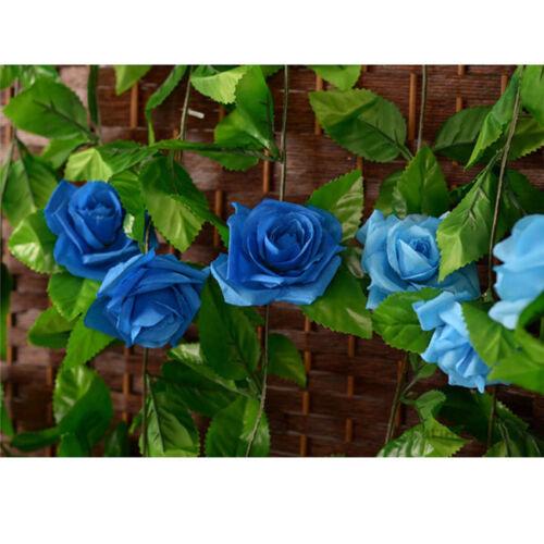 8ft Rose Ivy Vine Silk Artificial Flowers Garland Home Wedding Home Garden Decor