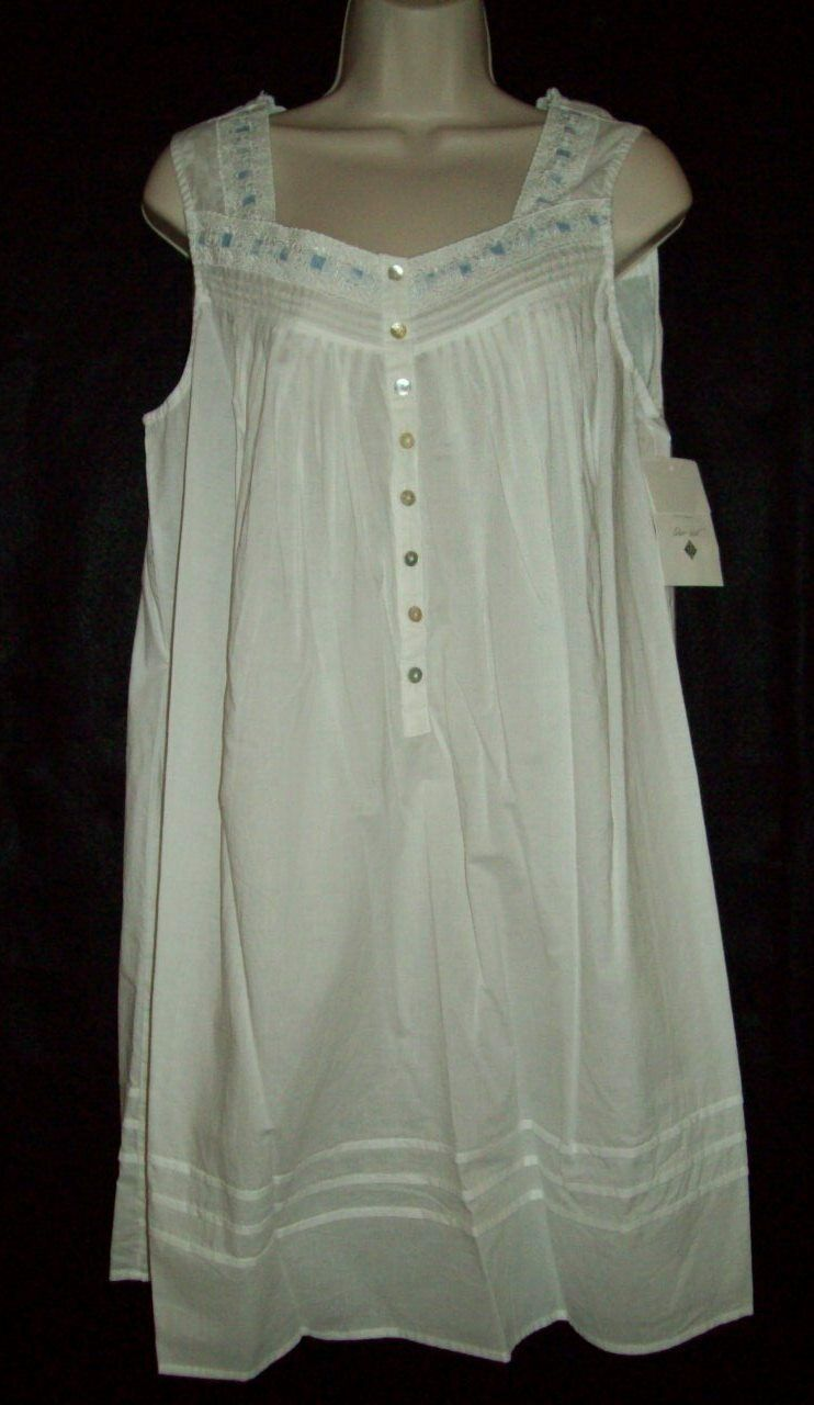 NWT EILEEN WEST 100% LAWN GOWN EYELET LACE w COLOR WHITE 533788 S SHORT  COTTON nqztwr690-Sleepwear   Robes 5ae1cb927