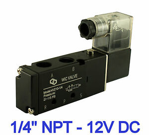 1/4 Inch 4 Way 2 Position Directional Control Electric Solenoid Air ...