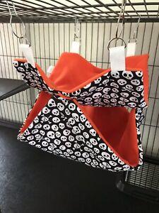 CoopéRative Handmade Luxury Furet/rat Double Hamac Lit (crânes/orange)-) Fr-fr Afficher Le Titre D'origine Nous Prenons Les Clients Comme Nos Dieux