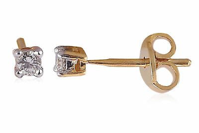 Stunning 0.20 Cts Natural Diamonds Stud Earrings In Solid Certified 18Karat Gold