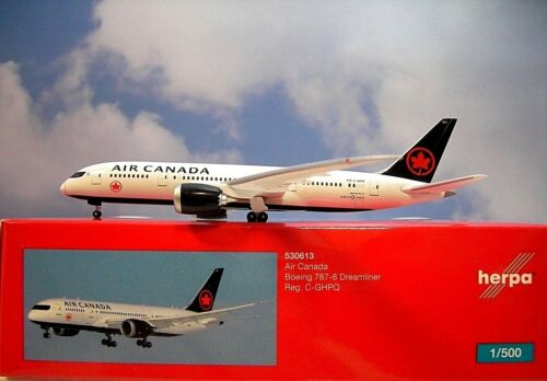 Herpa Wings 1:500 boeing 787-8 Air Canada C-ghpq 530613 modellairport 500