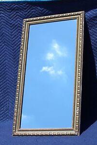 LARGE-Recessed-Vintage-39-034-Wood-Frame-Mirrored-Medicine-Cabinet-w-Glass-Shelves