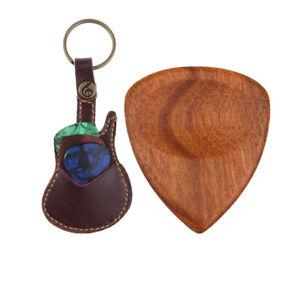 Soft-Leather-Guitar-Pick-Holder-Case-Bag-Guitar-Design-Handmade-Plectrum