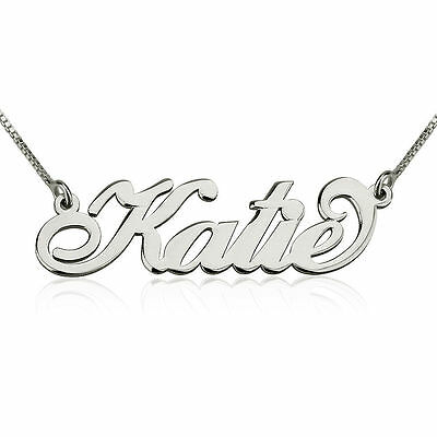 KATIE Gold Plated Sterling Silver Name Necklace Womens Girls Ladies Pendant