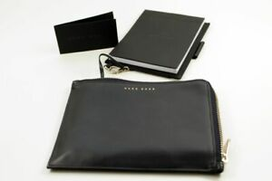 HUGO-BOSS-Writing-A6-Leather-Pen-Holder-Block-Zip-Leather-New